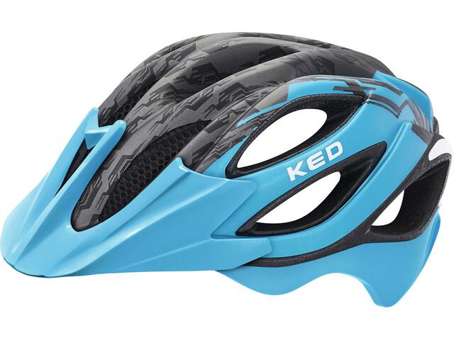 KED Paganini Visor Helmet Black Lightblue Matt